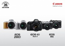 แคนนอน เปิดตัวกล้อง EOS 6D Mark II, EOS 200D และ EOS M6
