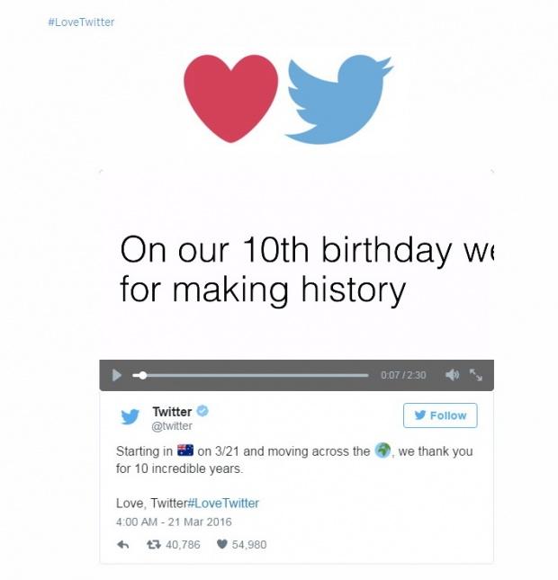 10 ปี ทวิตเตอร์ ดำรงค์เจตนารมเดิมจำกัดทวีต 140 ตัวอักษร