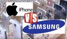 อย่างโหด!! ทดสอบความแกร่ง Samsung Galaxy vs iPhone ด้วยปืนสงคราม