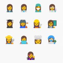 Google สร้าง emoji ใหม่ แด่เพศหญิง 13 สาขาอาชีพ